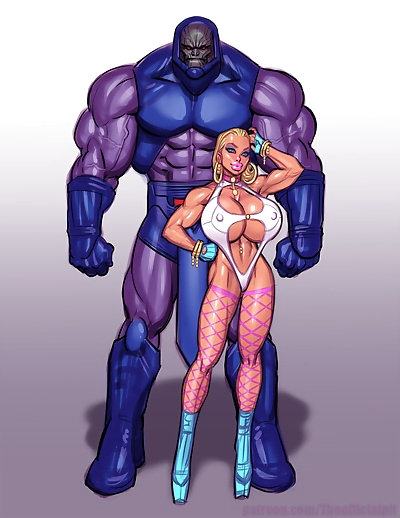 Power Girl vs Darkseid
