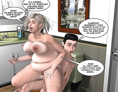 Caught in toilet 3d sex..