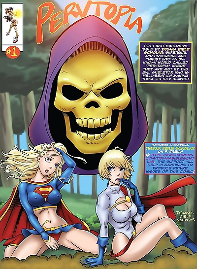 Supergirl and Power Girl-..
